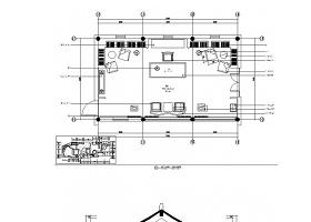 現代中式會所書吧書店室內裝修CAD施工圖(含效果)