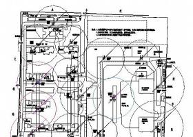 塔吊施工平面布置图(CAD图)