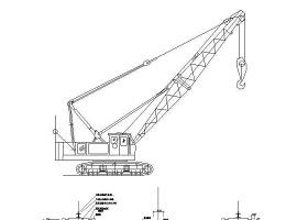 7个塔吊等机械cad图-主体结构