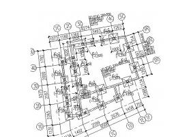 采光井钢框架结构施工图CAD图
