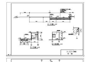 某汽车衡地磅及控制室CAD详细节点构造详图