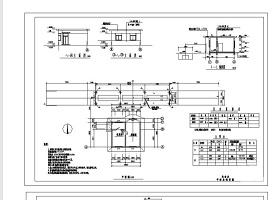 某汽车衡基础图及地磅房CAD设计图