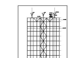 某大厦水幕墙CAD图纸