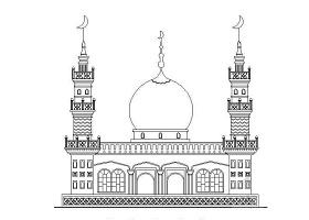 米泉某清真寺建筑CAD施工详图
