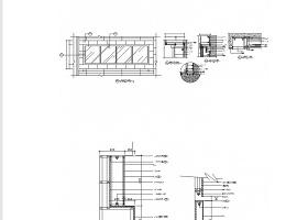成套灯箱装饰节点详图CAD图块下载
