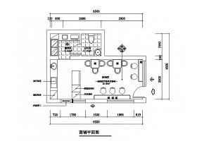 奶茶铺奶茶店饮品店装修CAD图纸