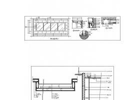某店铺二层广告灯箱CAD节点详图