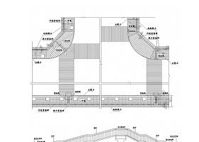 城市道路人行道无障碍设施及盲道设计CAD通用图34张(含天桥地道)