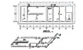 公共浴室给排水CAD图纸