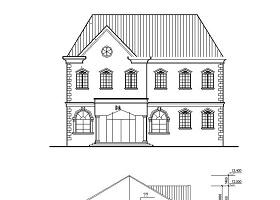 某二层澡堂建筑CAD施工图