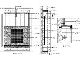 商场墙面造型灯箱CAD详图