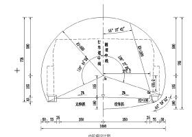 隧道棚洞的全套設計施工圖紙cad