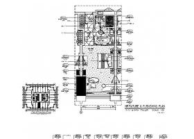 广东豪华商务酒店无障碍房室内装修CAD施工图