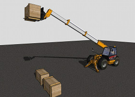 大型叉车SketchUp模型下载