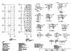 某地钢结构舞台CAD结构图