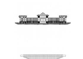 十五个入口大门CAD设计方案图