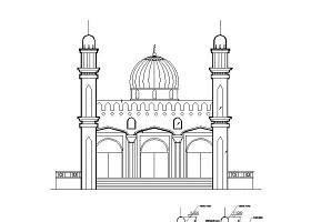 [呼图壁]某清真寺建筑扩初图