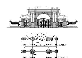 某小区入口大门CAD施工详图