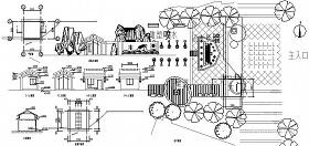 入口大门设计CAD施工图