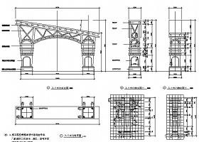 入口大门施工详图CAD
