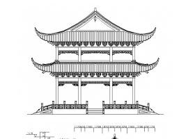 古建重檐歇山頂亭子施工圖CAD