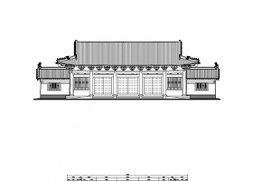 某景点歇山顶大门建筑施工图CAD图纸