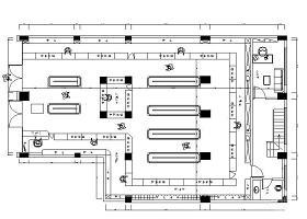 240平米药店平面布置图CAD图纸