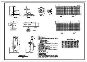 防撞墩標準斷面及配筋構造CAD詳圖