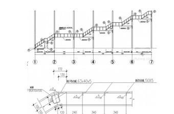 商场消防疏散楼梯节点构造详图