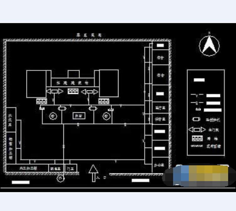 雨棚3d模型_某工厂工程施工平面布置cad设计图_CAD图库 【建库图纸】
