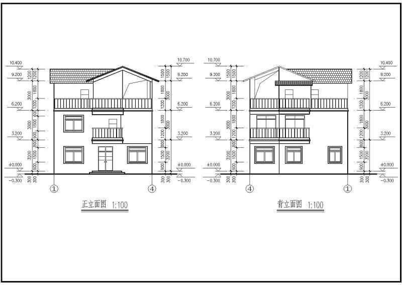 坡别墅图纸建筑结构施工图供员免v别墅cad主题屋顶网页设计素材图片