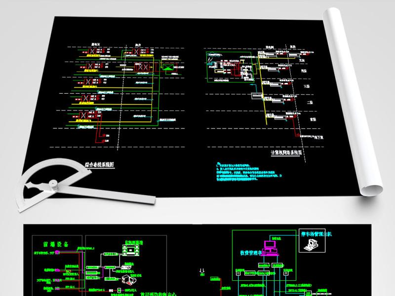 原创一套医院弱电系统CAD施工图CAD平面图