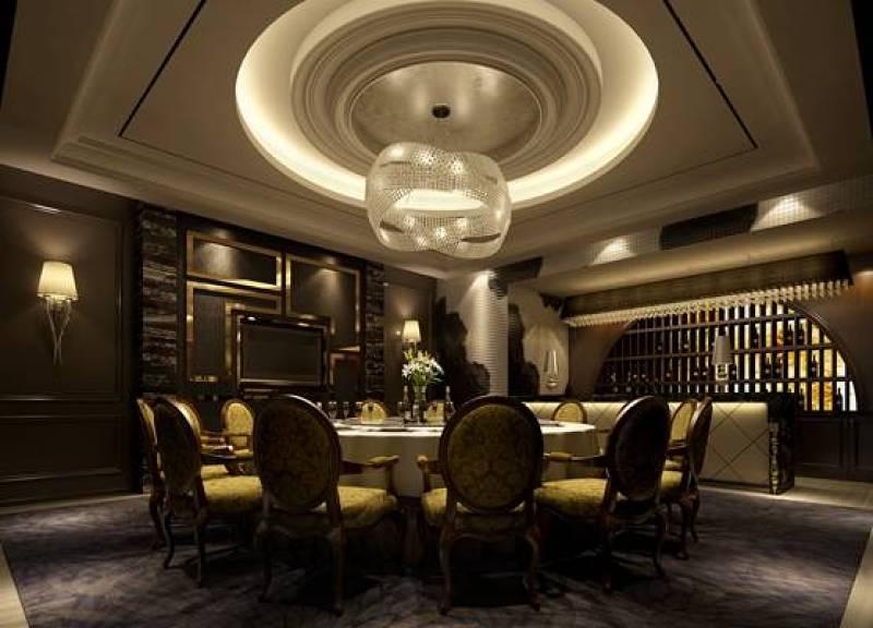 欧式新古典酒店宴会厅 现代白色水晶吊灯 电视墙 欧式