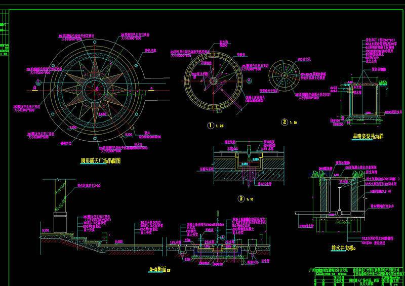 绿化配套工程施工CAD素材