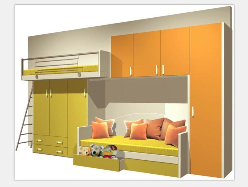 CAD儿童床设计图带效果图