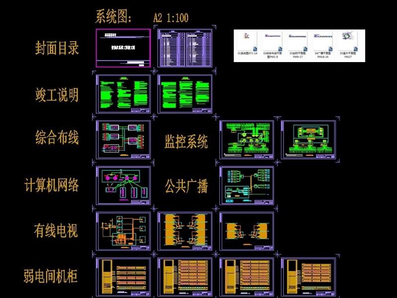 原創酒店智能化工程竣工圖紙CAD弱電智能化-版權可商用