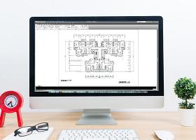 CAD家装图四室两厅