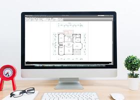 CAD家装户型图三室两厅一书房别墅