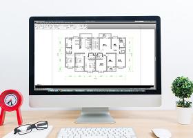 定制三室兩廳家裝戶型圖CAD房屋平面圖