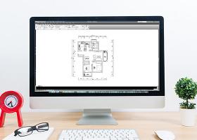 三室两厅CAD高层户型平面方案