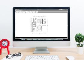 CAD三室两厅户型室内设计方案