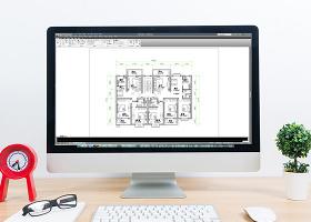 定制大戶型多居室房屋平面圖CAD平面圖
