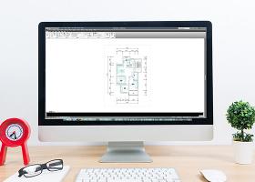 CAD家装户型三室两厅