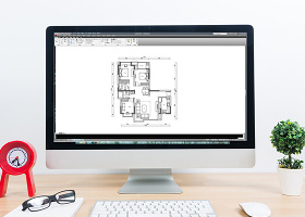 三室两厅CAD高层户型平面布局方案