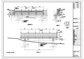 桥头公园景观塑木栏杆CAD图纸
