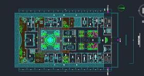 三進三出四合院CAD平面圖