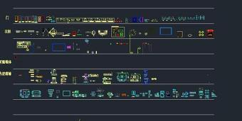 室内设计CAD图库施工图平立面动态图合集