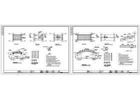 公园景观改造桥CAD图纸