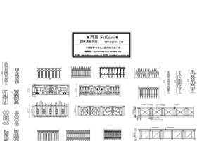 铁艺栏杆CAD图库