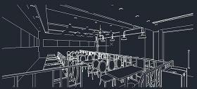 餐廳室內CAD效果圖